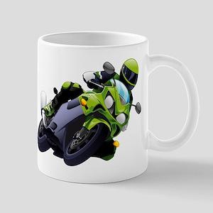 Motorcycle racer sliding Mugs
