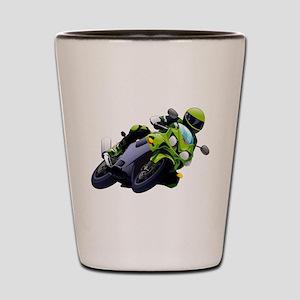 Motorcycle racer sliding Shot Glass