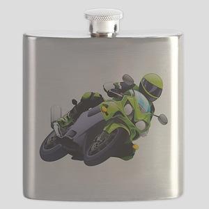 Motorcycle racer sliding Flask