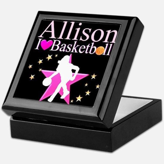 BASKETBALL PLAYER Keepsake Box