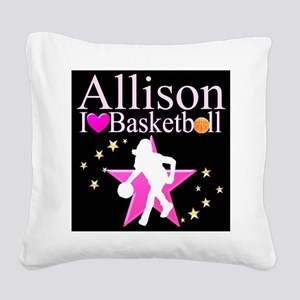 BASKETBALL PLAYER Square Canvas Pillow