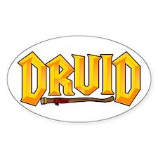 Druid @ eShirtLabs.Com Oval Sticker