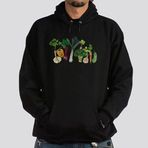 Funny cartoon vegetables Hoodie (dark)