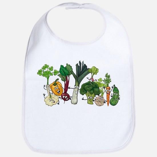 Funny cartoon vegetables Bib