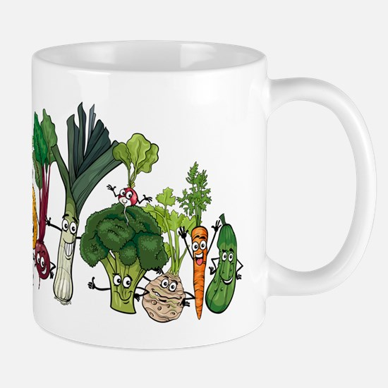 Funny cartoon vegetables Mugs
