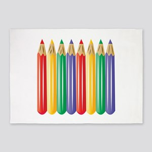 Colored Pencils 5'x7'Area Rug