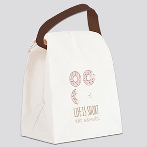 Eat Donuts Canvas Lunch Bag