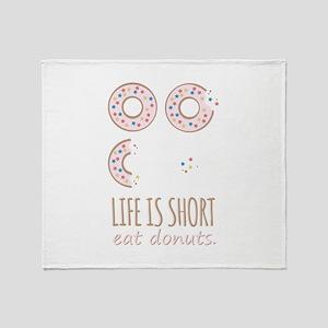 Eat Donuts Throw Blanket