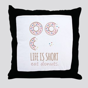 Eat Donuts Throw Pillow