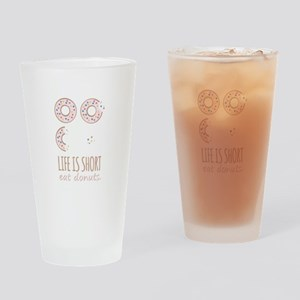Eat Donuts Drinking Glass