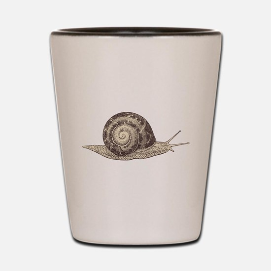 Hand painted animal snail Shot Glass