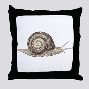 Hand painted animal snail Throw Pillow
