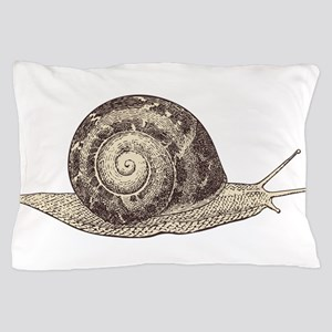 Hand painted animal snail Pillow Case