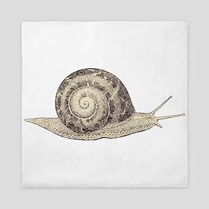 Hand painted animal snail Queen Duvet