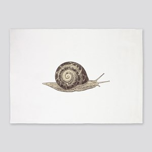 Hand painted animal snail 5'x7'Area Rug