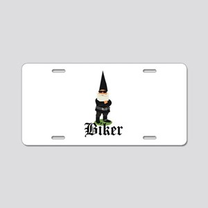 Gnome Biker Aluminum License Plate