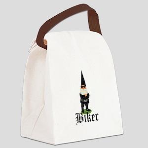 Gnome Biker Canvas Lunch Bag