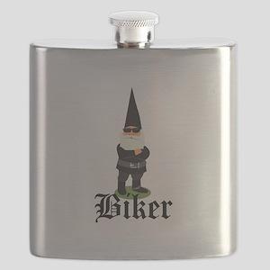 Gnome Biker Flask