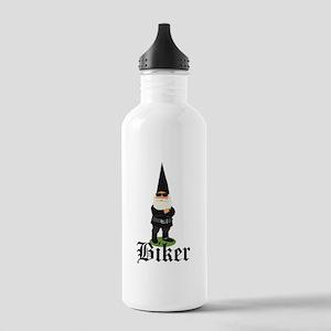Gnome Biker Water Bottle