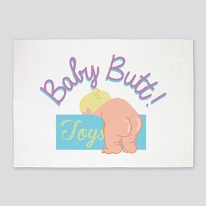 Baby Butt 5'x7'Area Rug