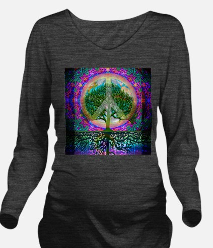 Cute You give peace a chance Long Sleeve Maternity T-Shirt