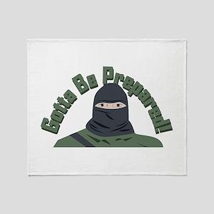 Be Prepared Throw Blanket