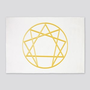 Gurdjieffs Anneagram 5'x7'Area Rug