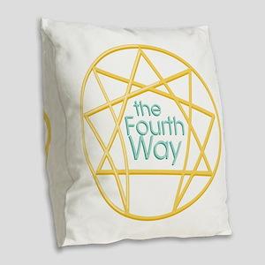 Fourth Way Burlap Throw Pillow