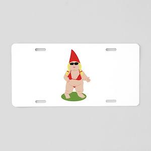 Gnome in Bikini Aluminum License Plate