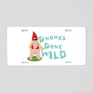 Gnome Wild Aluminum License Plate