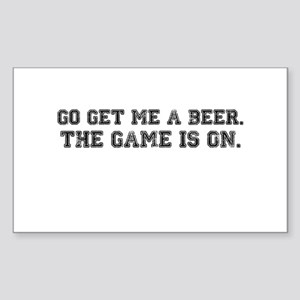 Go Get Me A Beer Rectangle Sticker