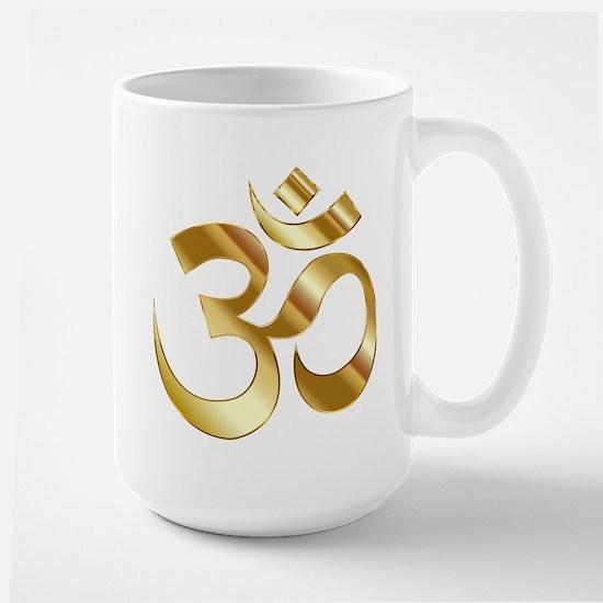 Om Symbol Stainless Steel Travel Mugs