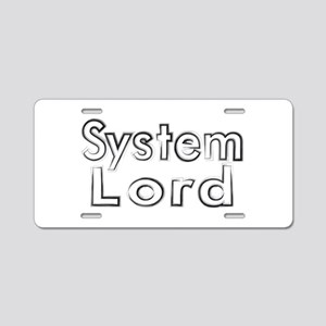 SYSTEM LORD Aluminum License Plate