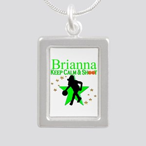 GO BASKETBALL Silver Portrait Necklace