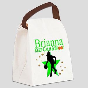 GO BASKETBALL Canvas Lunch Bag