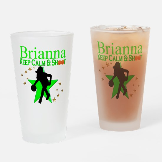 GO BASKETBALL Drinking Glass