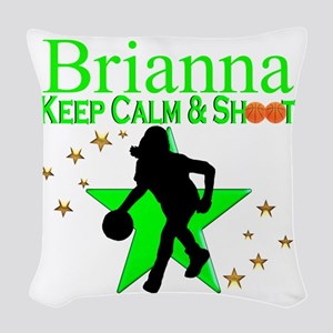 GO BASKETBALL Woven Throw Pillow