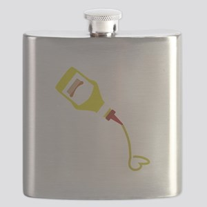 Mustard Bottle Flask