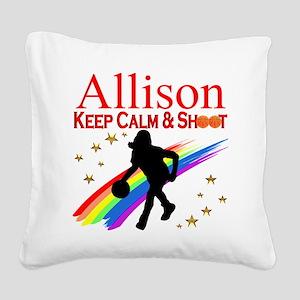 GO BASKETBALL Square Canvas Pillow