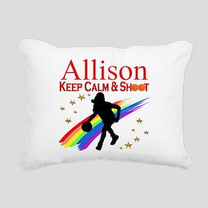 GO BASKETBALL Rectangular Canvas Pillow