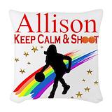 Girls basketball Woven Pillows
