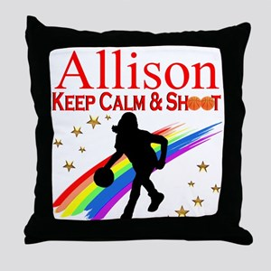 GO BASKETBALL Throw Pillow