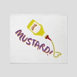 Mustard! Throw Blanket