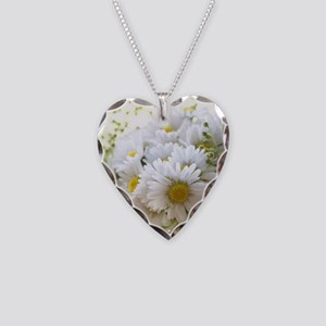 Bouquet of daisies in LOVE Necklace Heart Charm