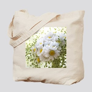 Bouquet of daisies in LOVE Tote Bag