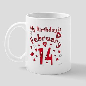 Valentine Feb. 14th Birthday Mug