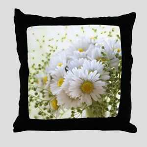 Bouquet of daisies in LOVE Throw Pillow