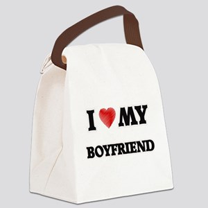 I Love My Boyfriend Canvas Lunch Bag
