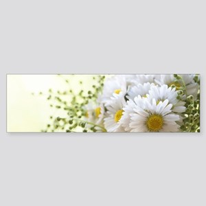 Bouquet of daisies in LOVE Bumper Sticker