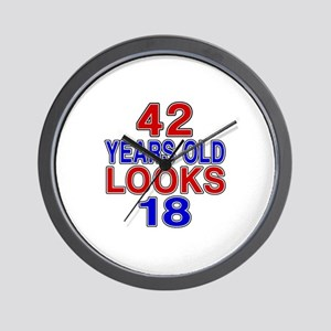 42 Years Old Looks 18 Wall Clock